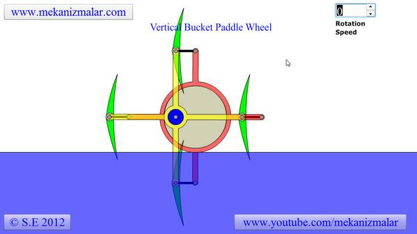 Vertical Bucket Paddle Wheel